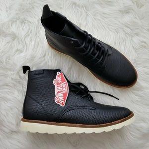 420334f9441 Vans Sahara Boot Perforated Black Leather W 9 NIB NWT